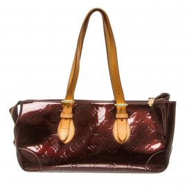 Louis Vuitton Amarante Vernis Leather Rosewood Ave Bag