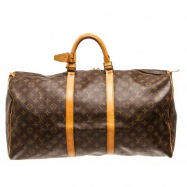 Túi hành lý Louis Vuitton Monogram Canvas Da Keepall 55 cm