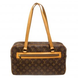 Túi đeo vai Louis Vuitton Monogram Canvas Leather Cite GM