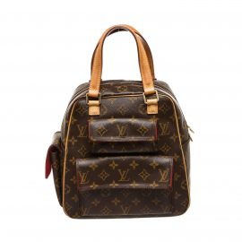 Louis Vuitton Monogram Canvas Leather Excentri Cite Shouder Bag
