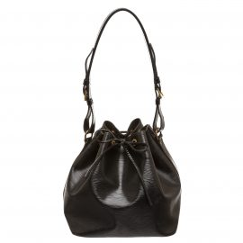 Louis Vuitton Black Epi Leather Petit Noe PM Drawstring Shoulder Bag