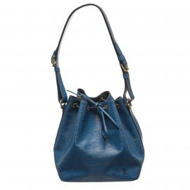 Louis Vuitton Blue Epi Leather Petit Noe PM Drawstring Shoulder Bag