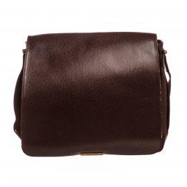 Túi đeo chéo Louis Vuitton Burgundy Viktor Messenger  Da taiga