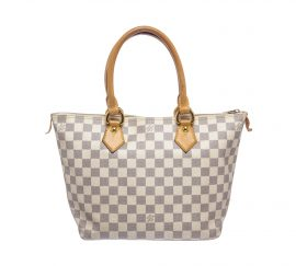 Louis Vuitton Damier Azur Canvas Leather Saleya MM Bag