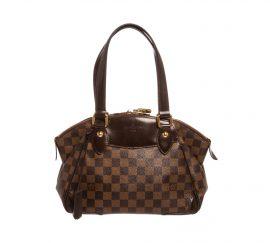 Louis Vuitton Damier Ebene Canvas Leather Verona PM Bag