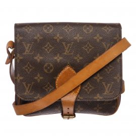 Louis Vuitton Monogram Canvas Leather Cartouchiere MM Bag