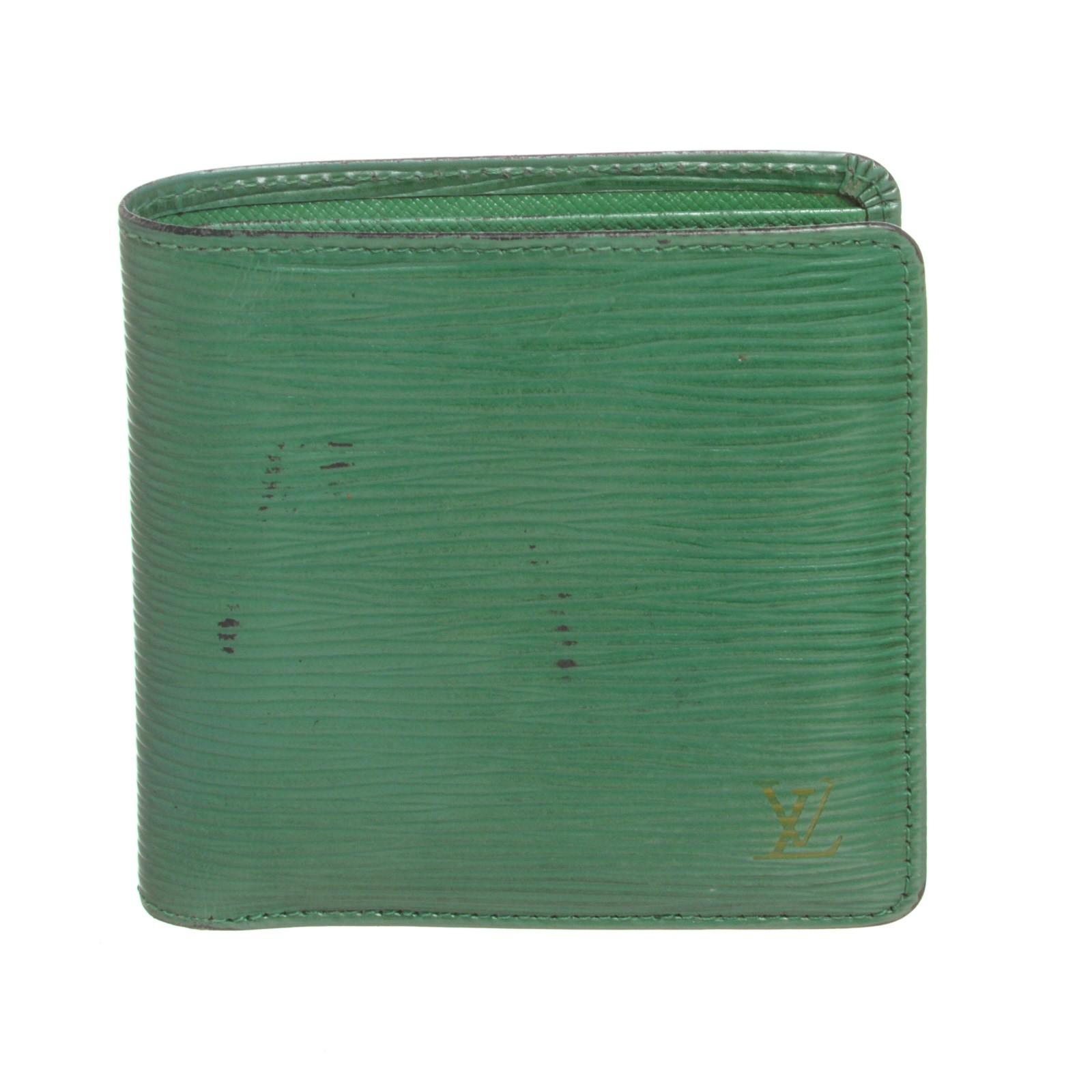 Shop for Louis Vuitton Green Epi Leather Marco Mens Wallet - Shipped ... d39a5d7a1