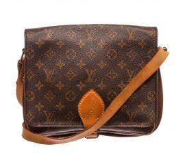 Louis Vuitton Monogram Canvas Leather Cartouchiere GM Shoulder Bag