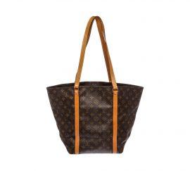 Louis Vuitton Monogram Canvas Leather Sac Shopping Tote Bag