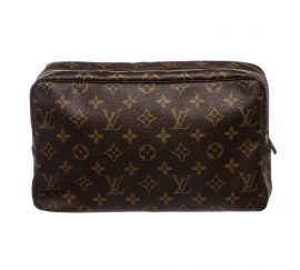 Louis Vuitton Monogram Canvas Leather Trousse 28 Toiletry GM Pouch