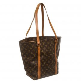 Louis Vuitton Monogram Canvas Leather Sac Shopping Tote Bag