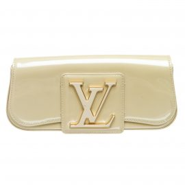 Louis Vuitton Off White Vernis Leather Sobe Clutch Bag