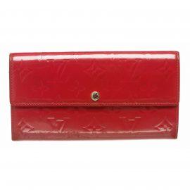 Ví tiền Louis Vuitton Framboise Vernis Monogram Sarah