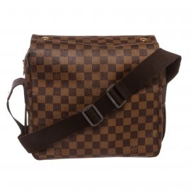 Louis Vuitton Damier Ebene Canvas Leather Naviglio Messenger Bag