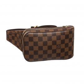 Louis Vuitton Damier Ebene Canvas Leather Geronimos Crossbody Bag