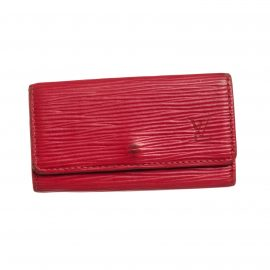 Louis Vuitton Red Epi Leather 4 Key Holder