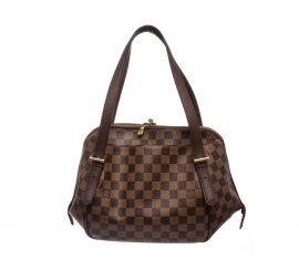 Louis Vuitton Damier Ebene Canvas Leather Belem MM Bag
