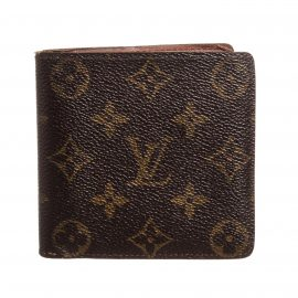 Louis Vuitton Monogram Canvas Leather Macro Bifold Wallet