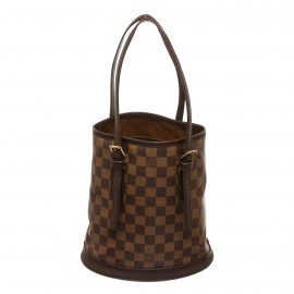 Louis Vuitton Damier Ebene Canvas Leather Bucket Marais PM Bag