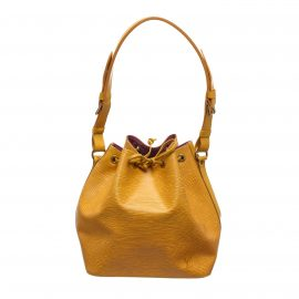 Louis Vuitton Yellow Epi Leather Petit Noe PM Drawstring Shoulder Bag