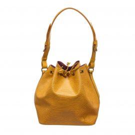 Túi đeo vai Louis Vuitton Petit Noe PM Drawstring Da Epi Vàng