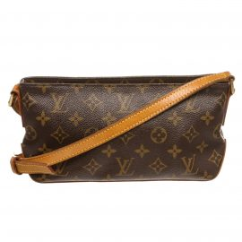 Louis Vuitton Monogram Canvas Leather Trotteur Crossbody Bag