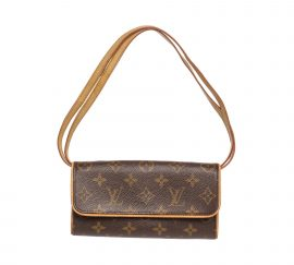 Louis Vuitton Monogram Canvas Leather Twin PM Bag