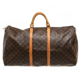 Túi hành lý Louis Vuitton Monogram Keepall 60 Da Canvas
