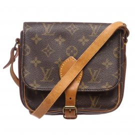 Túi đeo vai Louis Vuitton Monogram Cartouchiere Da Canvas