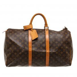 Vali Louis Vuitton Monogra Keepall 50 cm Duffle Da Canvas