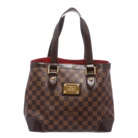 Louis Vuitton Damier Ebene Canvas Leather Hampstead PM Shoulder Bag