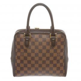 Louis Vuitton Damier Ebene Canvas Leather Brera Bag