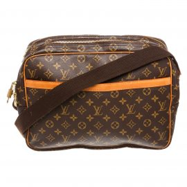 Louis Vuitton Monogram Canvas Leather Reporter GM Bag
