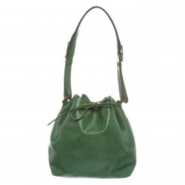 Louis Vuitton Green Epi Leather Petit Noe PM Drawstring Shoulder Bag