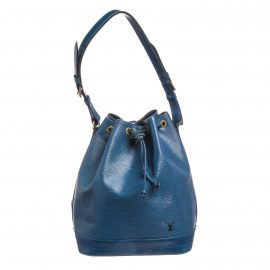 Louis Vuitton Blue Epi Leather Noe GM Drawstring Shoulder Bag