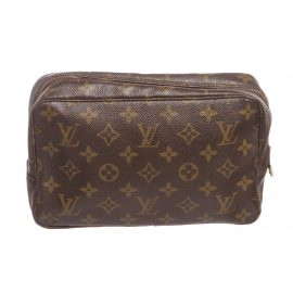 Louis Vuitton Monogram Canvas Leather Trousse 23 Toiletry MM Pouch