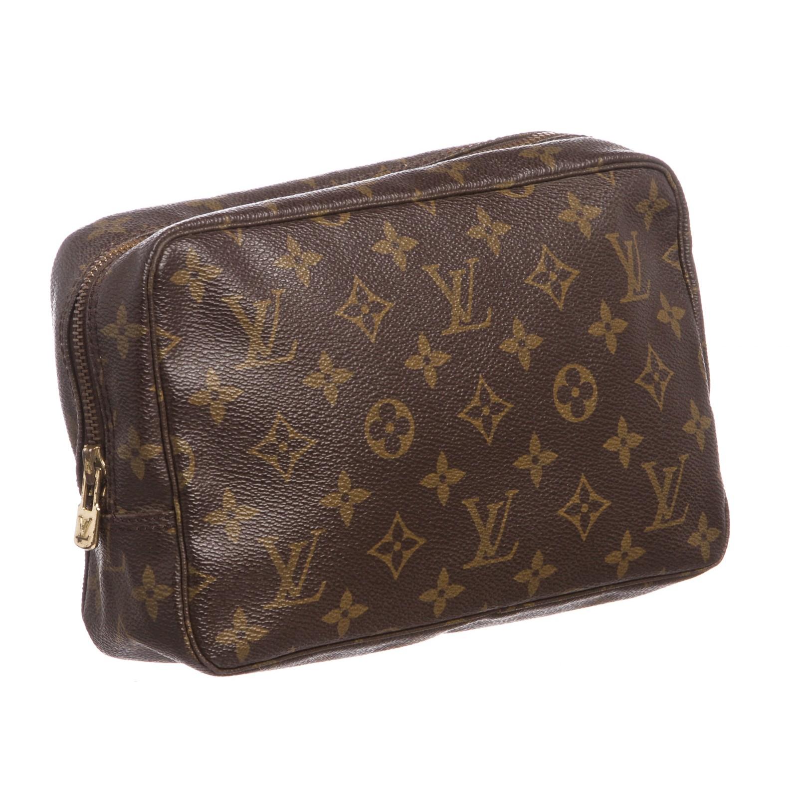 43fe850bdca Louis Vuitton Monogram Canvas Leather Trousse 23 Toiletry MM Pouch