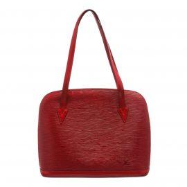Louis Vuitton Red Epi Leather Lussac Shoulder Bag