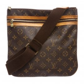 Louis Vuitton Monogram Canvas Leather Bosphore Pochette Crossbody Bag