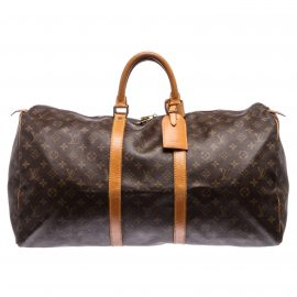 Va li Louis Vuitton Monogram Keepall 55 cm Duffle Da Canvas