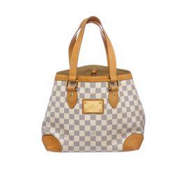 Louis Vuitton Damier Azur Canvas Leather Hampstead PM Bag