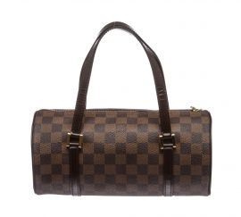 Louis Vuitton Damier Ebene Canvas Leather Papillon 26 cm Bag