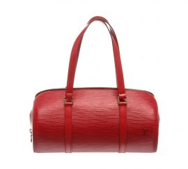 Louis Vuitton Red Epi Leather Soufflot Shoulder Bag