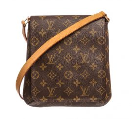 Túi xách vai Louis Vuitton Monogram Musette Salsa PM Da Canvas