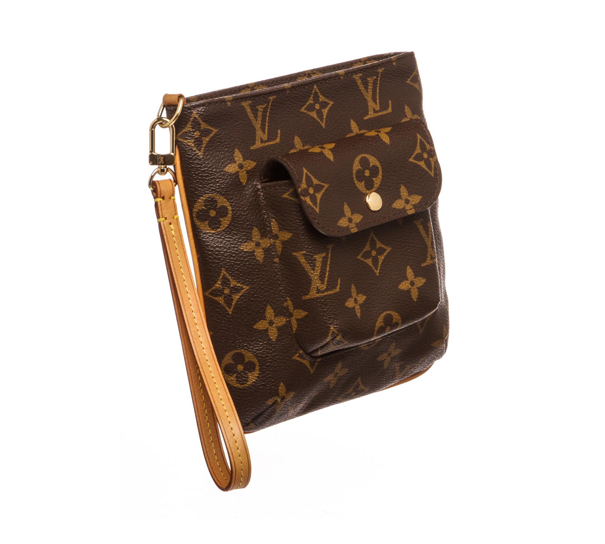 132f1bbd2b6a Shop for Louis Vuitton Monogram Canvas Leather Partition Wristlet ...