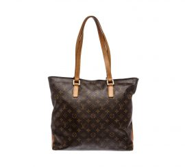 Túi Đeo vai Louis Vuitton Monogram Canvas Leather Cabas Mezzo