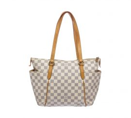 Louis Vuitton Damier Azur Canvas Leather Totally PM Handbag