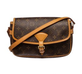 Louis Vuitton Monogram Canvas Leather Sologne Crossbody Bag