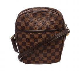 Túi Louis Vuitton Damier Ebene Ipanema PM  Da Canvas