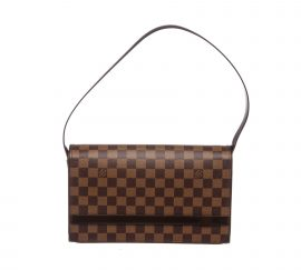 Louis Vuitton Damier Ebene Canvas Leather Tribeca Long Shoulder Bag